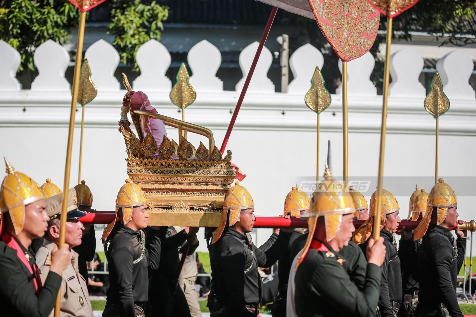 สมพระเกียรติ ซ้อมริ้วขบวนพระบรมราชอิสริยยศ พระราชพิธีถวายพระเพลิงพระบรมศพฯ