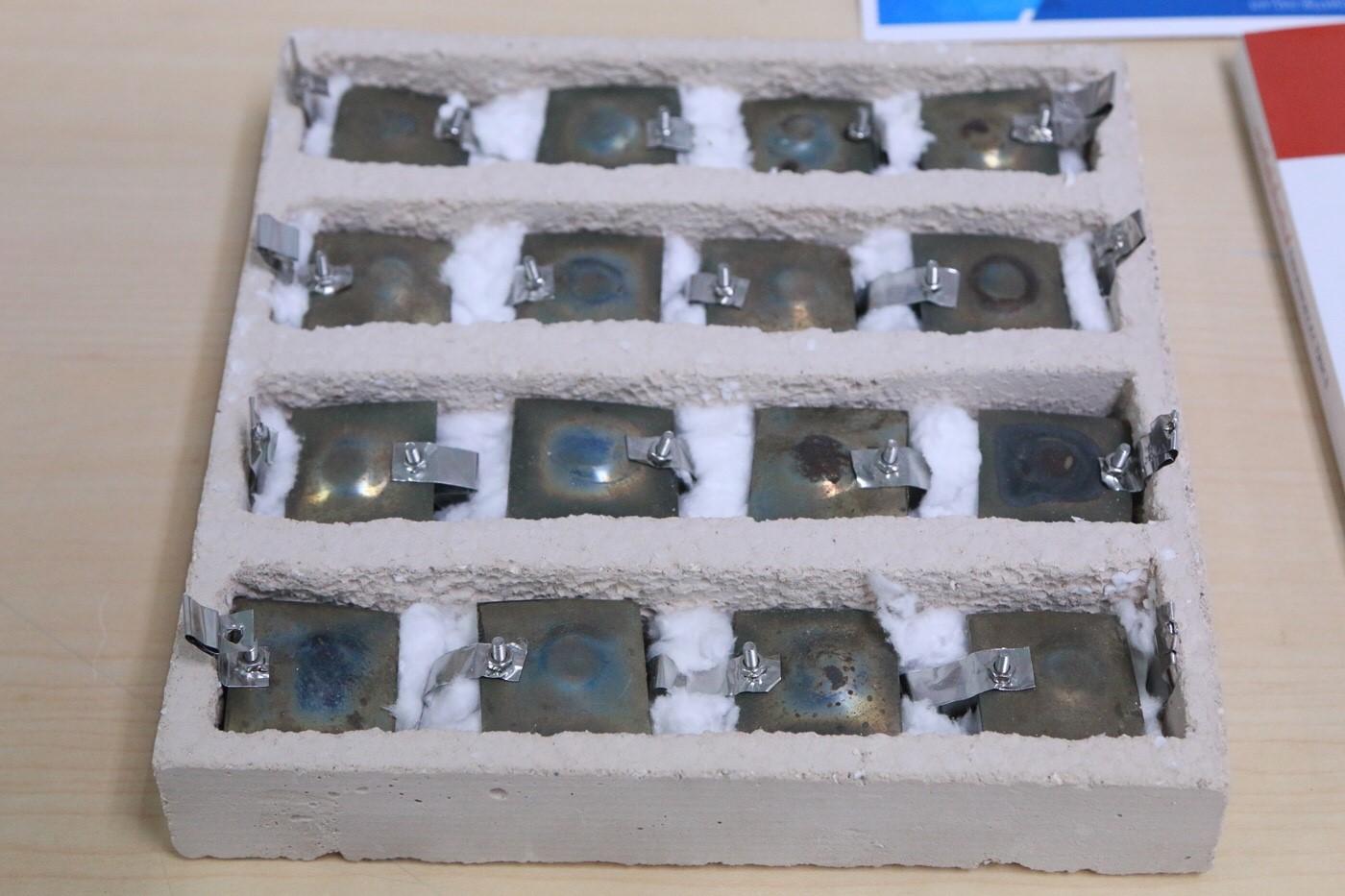 คอนกรีตบล็อกทนความร้อนผลิตไฟฟ้าได้จากเปลือกไข่ไก่