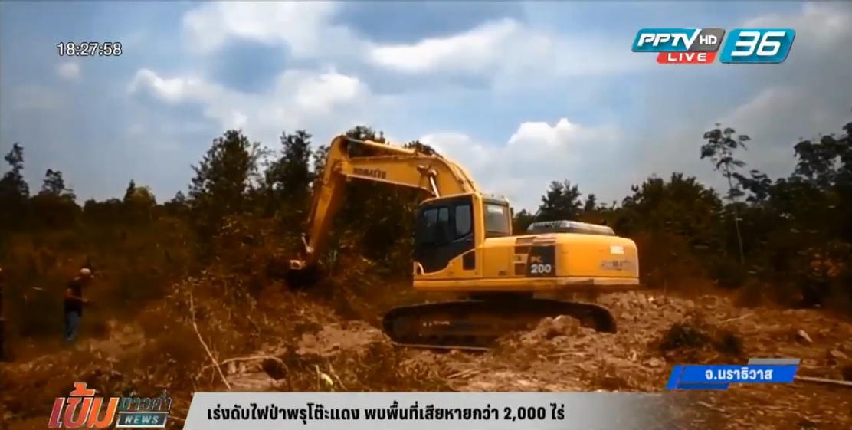 เร่งดับไฟป่าพรุโต๊ะแดง พบพื้นที่เสียหายกว่า 2000 ไร่