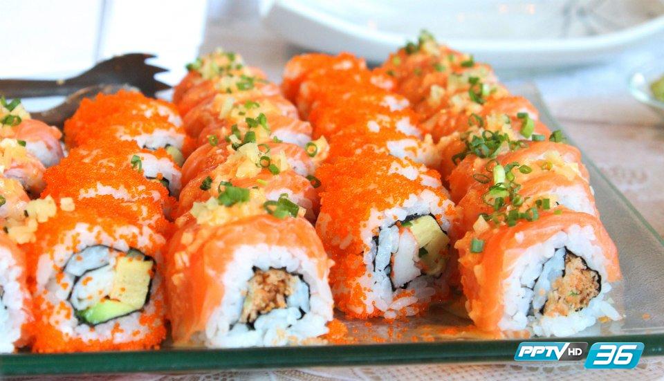 ปลาแซลมอน วันชัย วันชัยตัน อาหารญี่ปุ่น ซาซิมิ ซูชิ