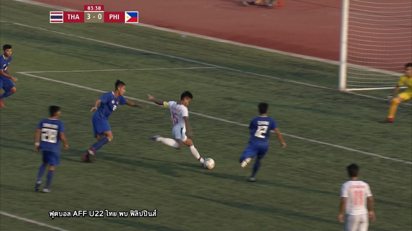 """ไฮไลท์ ทีมชาติไทย เอาชนะ ทีมชาติฟิลิปปินส์ 3 - 0 ศึก """"AFF U22 LG Cup 2019"""""""