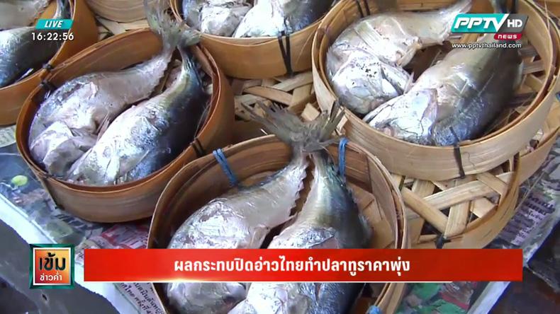 ผลกระทบปิดอ่าวไทยทำปลาทูราคาพุ่ง 1 เท่าตัว