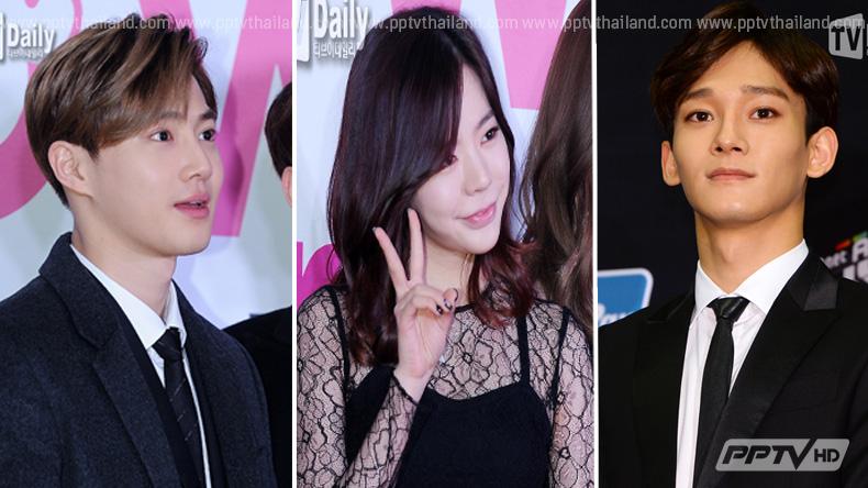 """""""ซูโฮ - เฉิน"""" แห่งวง EXO ยก """"ซันนี่"""" เป็นสาวในอุดมคติ"""