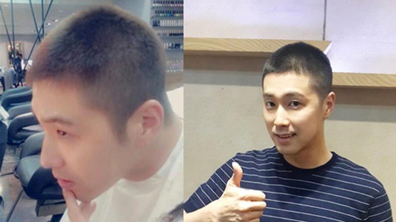 """""""ยุนโฮ"""" TVXQ เผยภาพหัวเกรียนพร้อมส่ง จม.ลาแฟนๆ เข้ากองทัพแล้ว"""
