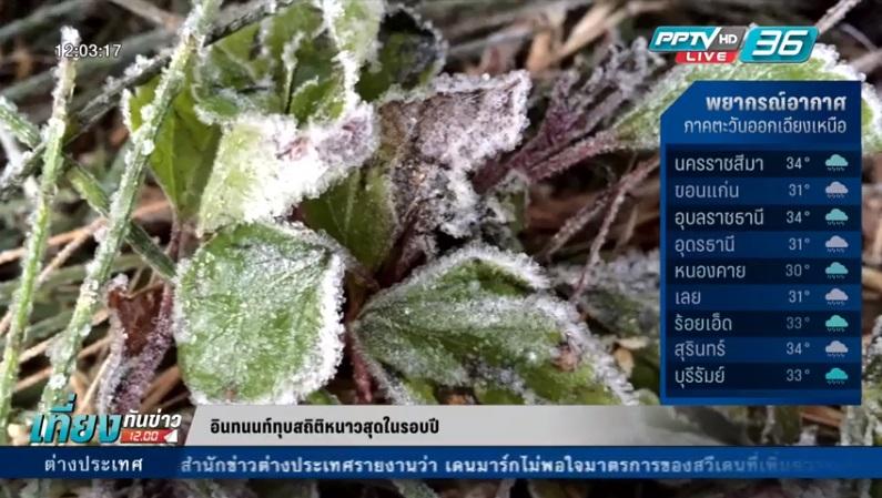ทุบสถิติ! ยอดดอยอินทนนท์ติดลบ 2 องศาหนาวสุดในรอบปี