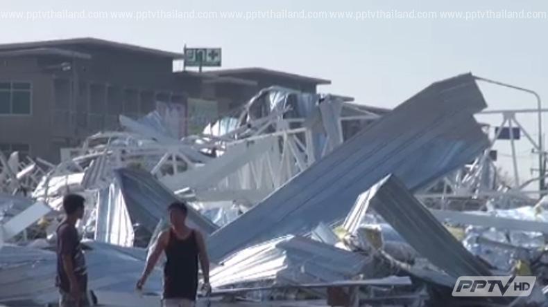 มหาสารคาม ประกาศเขตภัยพิบัติ หลังเกิดพายุพัดถล่ม