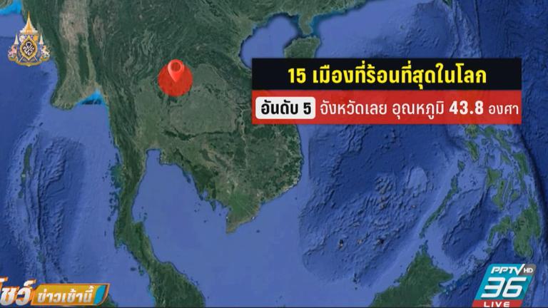 ไทยร้อนระอุ พุ่งติดอันดับโลกหลายจังหวัด