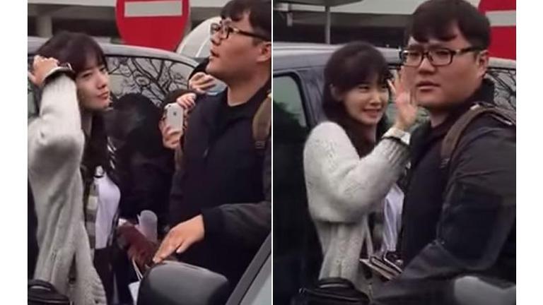 """ซุป'ตาร์สุดน่ารัก! """"ยุนอา"""" ห้ามผู้จัดการโวยแฟนคลับขอถ่ายรูป (คลิป)"""