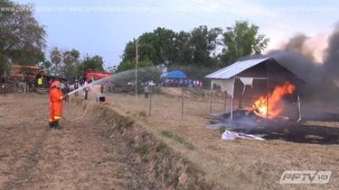 ยโสธรนำชาวบ้านซ้อมแผนรับมือบุญบั้งไฟ