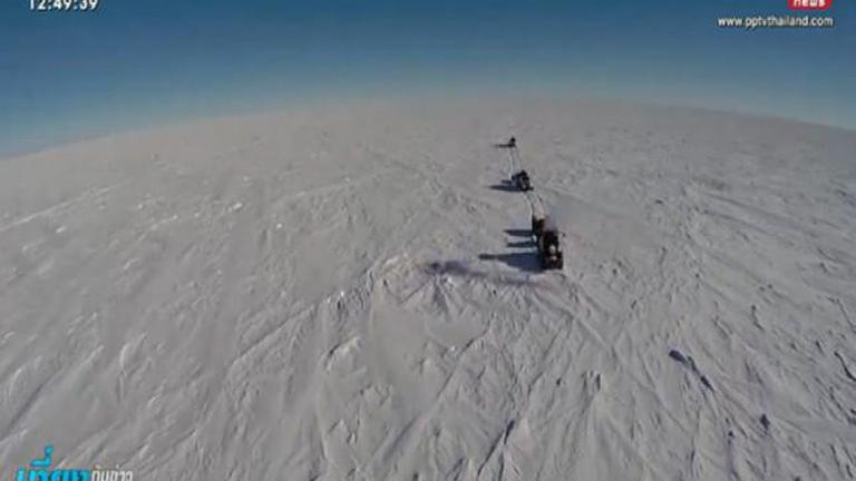 สำเร็จ! สาวชาวดัตช์ขับแทรกเตอร์ 9 ปีพิชิตขั้วโลกใต้
