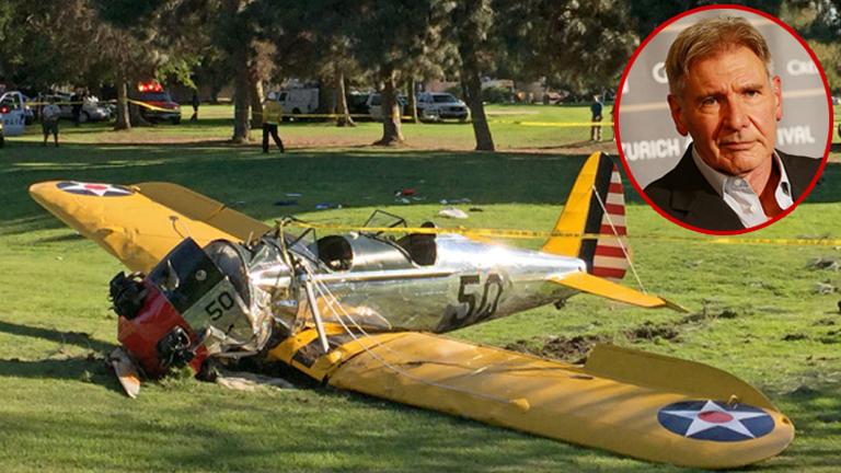 """คลิปวินาทีระทึก! """"แฮร์ริสัน ฟอร์ด"""" ขับเครื่องบินเล็กตก"""