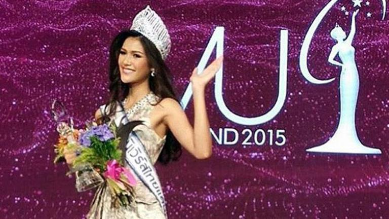 """""""แนท อนิพรณ์"""" สาวงามหน้าไทยวัย 21 คว้ามงกุฎ """"มิสยูนิเวิร์สไทยแลนด์ 2015"""""""