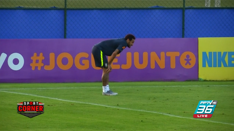 """""""เนย์มาร์"""" เจ็บเข่าระหว่างซ้อมกับทีมชาติบราซิล"""