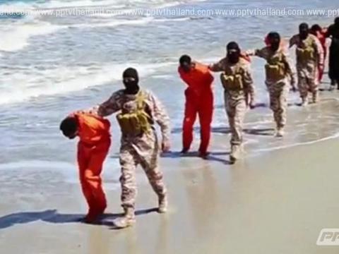 ไอเอสเผยคลิปสุดโหดฆ่าตัดคอหมู่ชาวคริสต์-บังคับนับถืออิสลาม