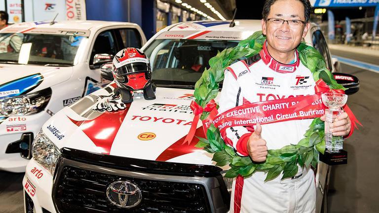 """""""มร.มิจิโนบุ"""" ซิวแชมป์ Toyota Executive Charity Race มอบเงินรางวัลให้องค์กรการกุศล"""