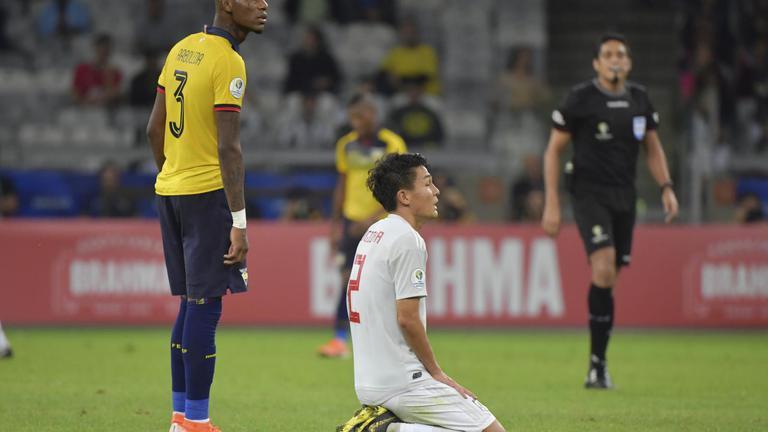 """""""เอกวาดอร์"""" เสมอ """"ญี่ปุ่น"""" 1-1 กอดคอตกรอบ โคปา อเมริกา 2019"""