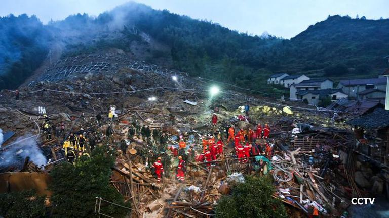ดินถล่มเมือง Lishui ของจีน เสียชีวิต 9 ราย สูญหาย 28 ราย