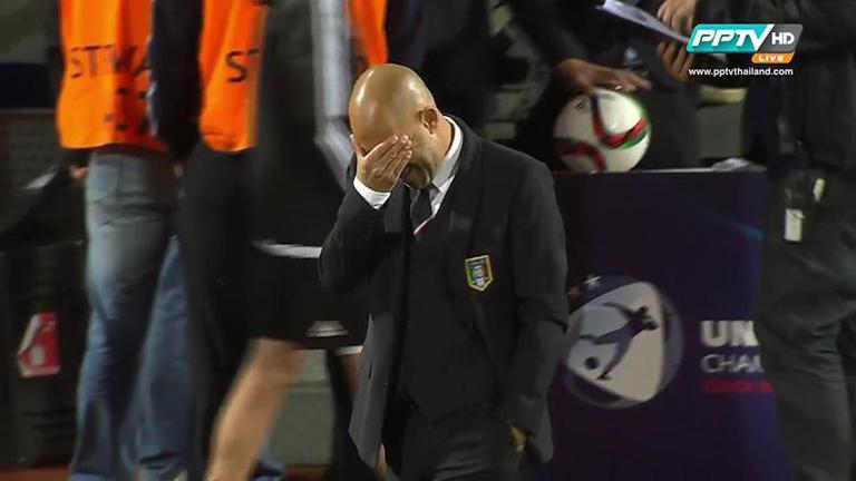 ไฮไลท์ UEFA U 21 : อิตาลี ฝันสลายเกือบเข้าดันร่วงท้ายเกม