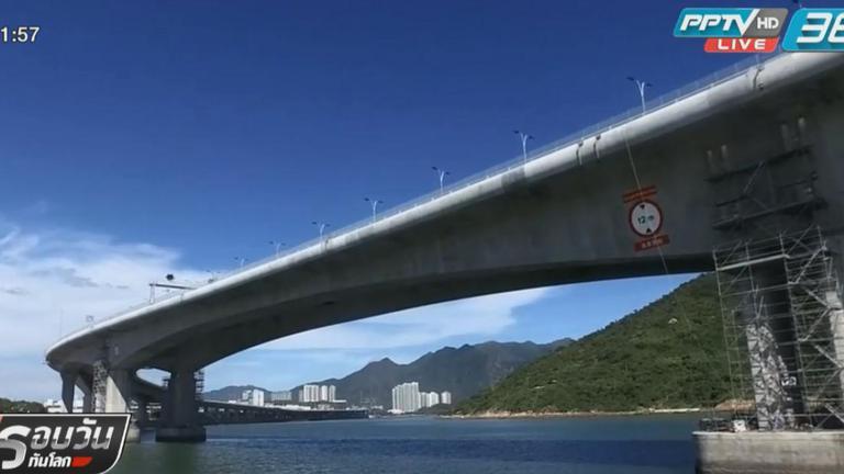 """สะพานเชื่อม """"ฮ่องกง-จีน"""" คุกคามประชากรโลมาเผือก"""