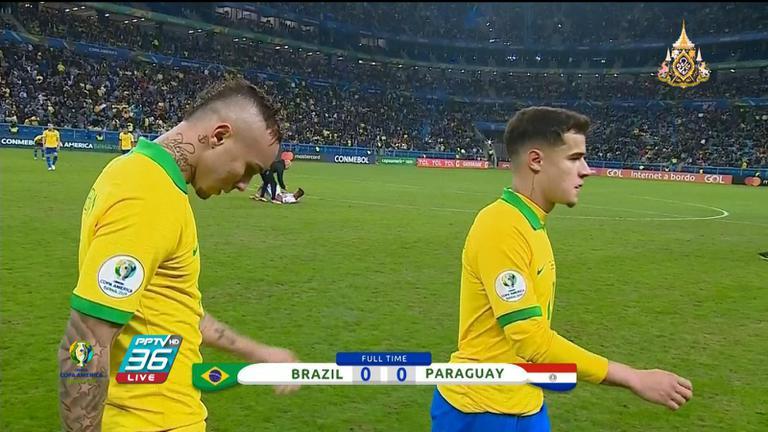 เคาะหลังเกม เจ้าภาพ บราซิล ต้องออกแรงเหนื่อยถึงดวลจุดโทษก่อนเอาชนะปารากวัย 4-3
