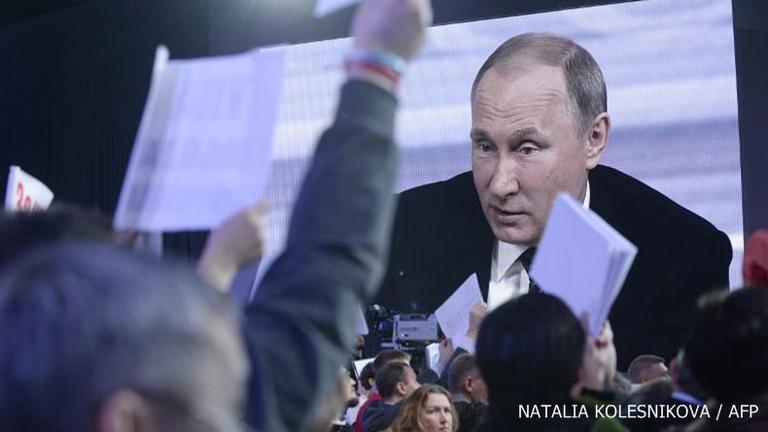 """""""ปูติน"""" คืออันดับ 1 ในรัสเซีย"""