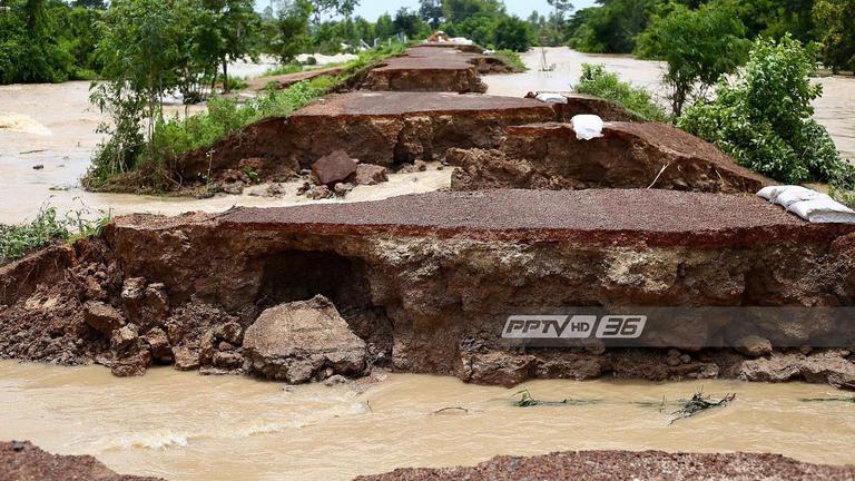 พนังกั้นน้ำขาด เร่งอพยพปชช. 4 หมู่บ้านร้อยเอ็ด