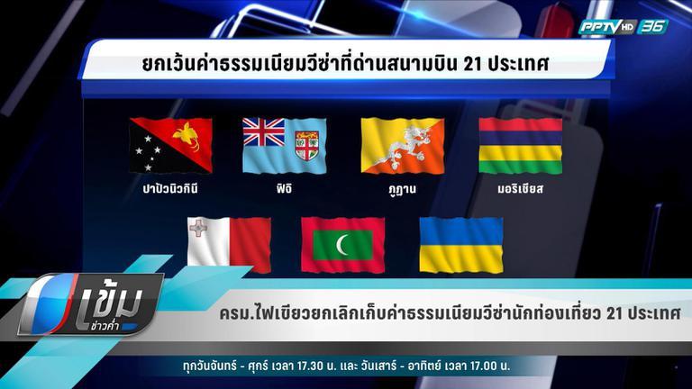 ครม.ไฟเขียวยกเลิกเก็บค่าธรรมเนียมวีซ่านักท่องเที่ยว 21 ประเทศ