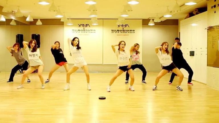 Seungri วง  BIGBANG แชร์คลิปซ้อมเต้นสาวๆวง Kara บนทวิตเตอร์ส่วนตัว