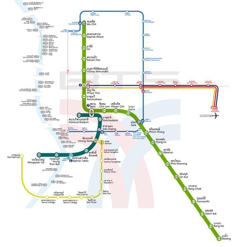 สำหรับประเทศไทย มีระบบรถไฟฟ้าขนส่งมวลชน ทั้ง BTS และ MRT โดยรถไฟฟ้า BTS  เป็นระบบขนส่งมวลชนทางราง จำนวน 2 สาย 35 สถานี คือ สายสุขุมวิท และสายสีลม ...