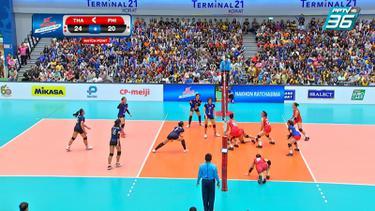 คว้าชัย 2 นัดติด สาวไทยตบชนะฟิลิปปินส์ 3-1
