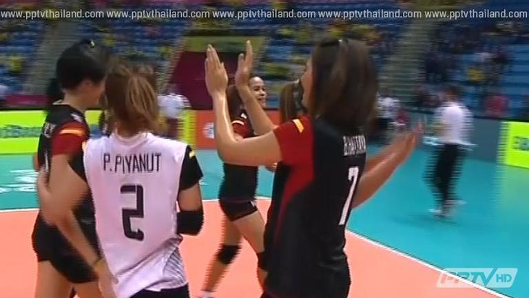 เฮ! วอลเลย์บอลหญิงทีมชาติไทย ชนะ เยอรมนี 3 เซตรวด