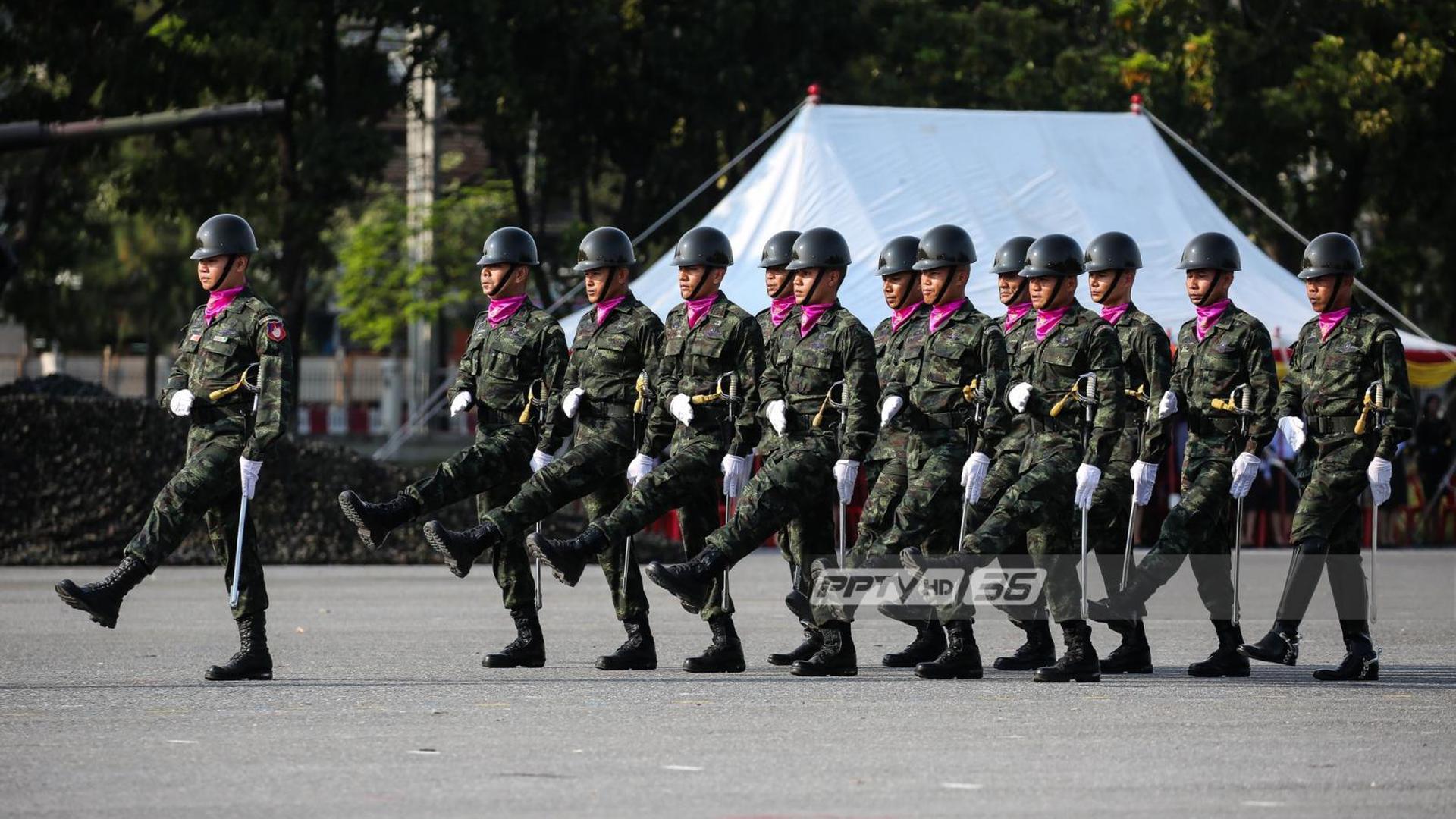 """""""18 ม.ค. วันกองทัพไทย"""" ทุกเหล่าทัพปฏิญาณตนต่อธงชัยเฉลิมพล -สวนสนาม"""