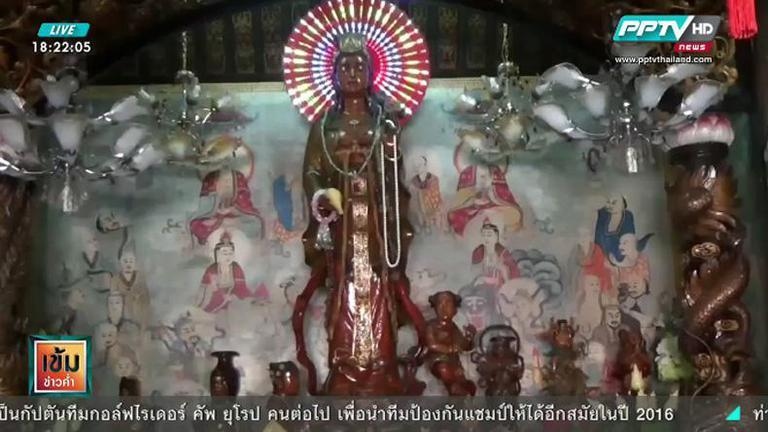 พระโพธิสัตว์กวนอิมไม้สัก แกะสลัก ที่ใหญ่ที่สุดในประเทศไทย