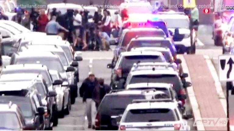 สหรัฐฯ ป่วน หลังรับแจ้งได้ยินเสียงปืนในฐานทัพเรือวอชิงตัน