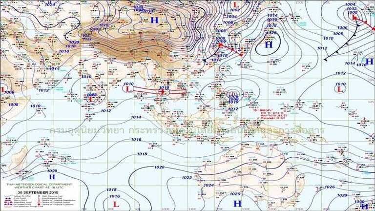 อุตุฯ เผย ทั่วไทยฝนตกหนักบางแห่ง-กทม.ฝน 70%