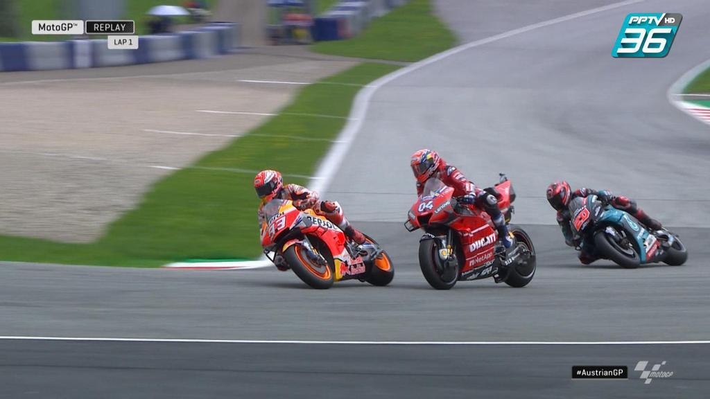 Marc Marquez บัง Andrea Dovizioso ไม่ให้เเซง
