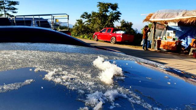 """ตื่นตา""""ห้วยน้ำดัง""""หนาวจัดมี""""น้ำค้างแข็ง""""ครั้งแรกในรอบหลายปี"""