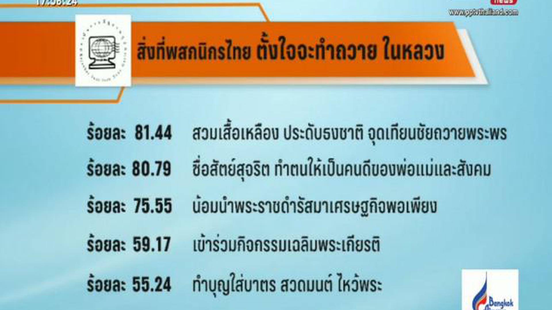 คนไทยพร้อมใจทำความดีเพื่อพ่อหลวง