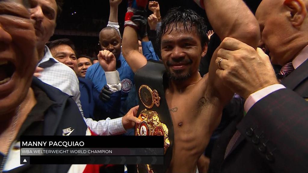 ชมช็อตเด็ด แมนนี่ ปาเกียว ใช้เวลาแค่ 7 ยกน็อค แมทธิสเซ่ คว้าแชมป์โลก WBA ในรุ่นเวลเตอร์เวท ได้สำเร็จ