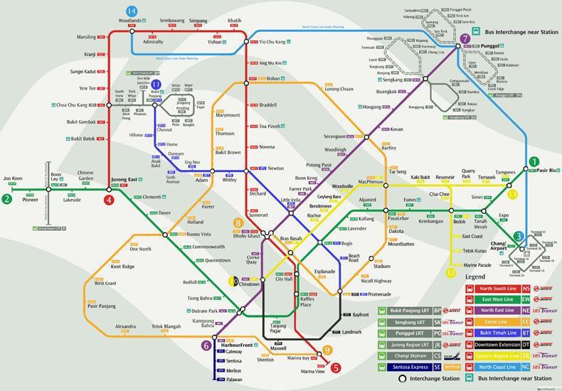 ด้านกลุ่มประเทศอาเซียน อย่าง สิงคโปร์  ซึ่งถือว่ามีระบบขนส่งมวลชนรถไฟฟ้าที่ดีอับดับต้นๆ  มีสถานีรถไฟฟ้าใต้ดินทั้งหมด 113 สถานี ครอบคลุมระยะทาง 152.9 กิโลเมตร ...