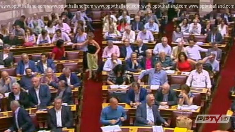 กรีซประท้วงเดือด โวย รัฐสภา ผ่านร่างกฎหมายรัดเข็มขัด