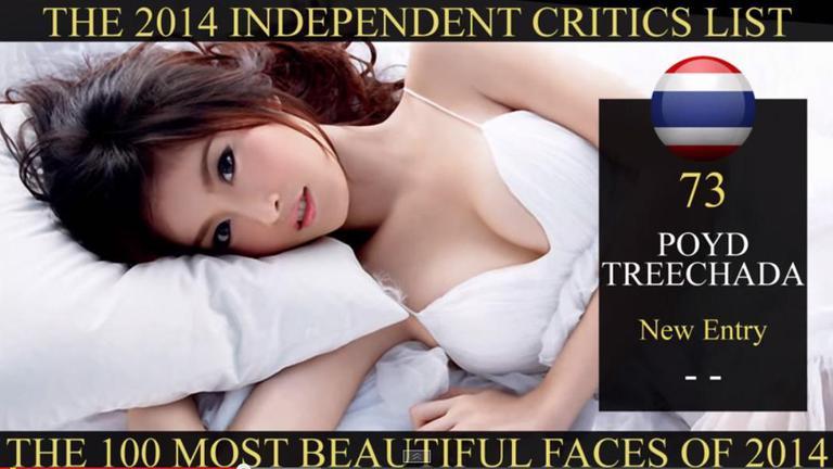 """คนเดียวในไทย! """"ปอย ตรีชฎา"""" คว้าอันดับ73 สาวหน้าสวยที่สุดในโลก"""