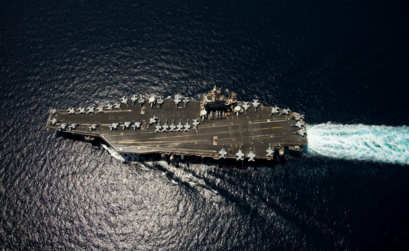 สหรัฐฯส่งเรือบรรทุกเครื่องบินใกล้น่านน้ำอิหร่าน