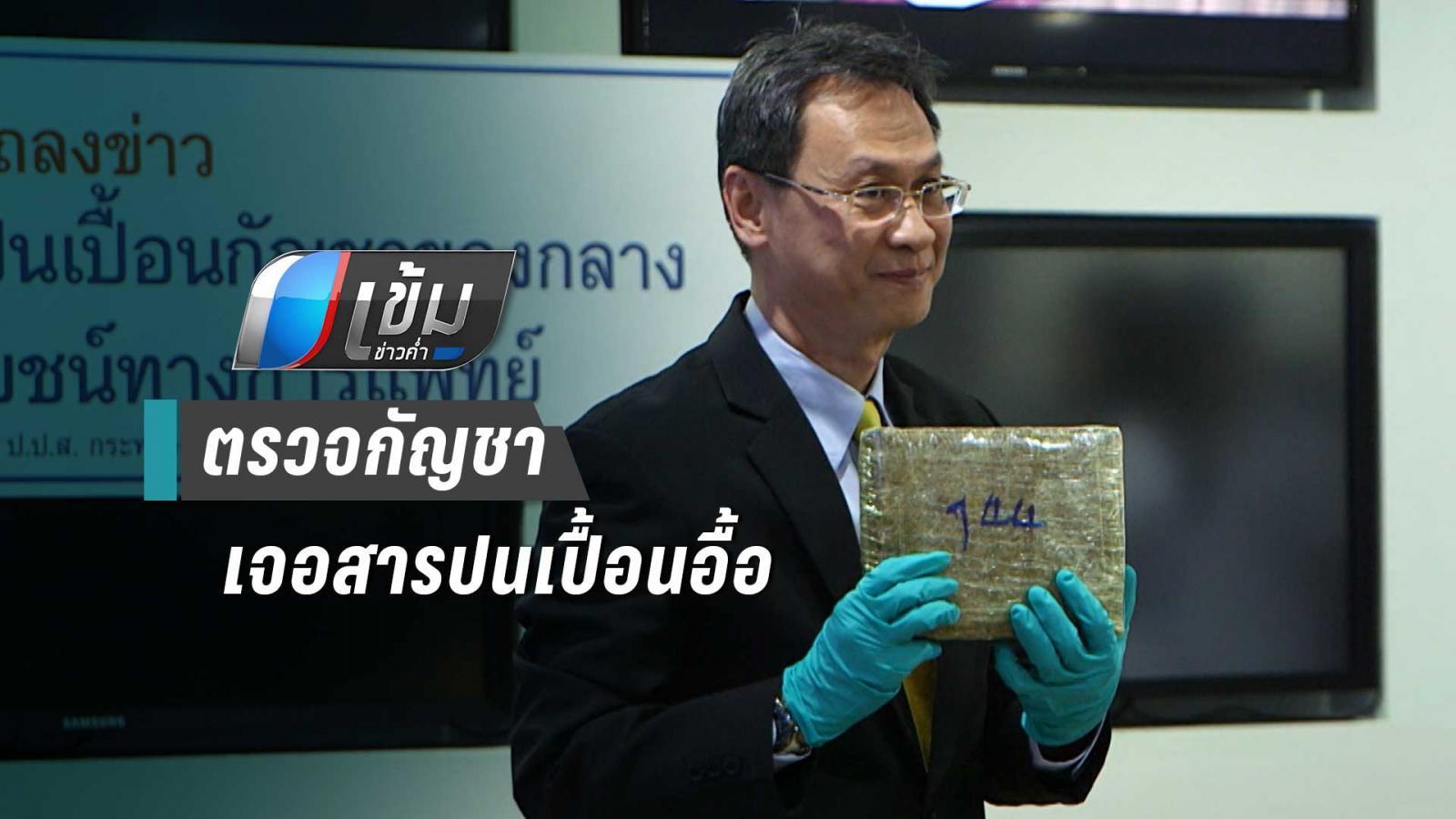 กรมวิทย์เผยผลตรวจกัญชา 18 ตัน พบสารปนเปื้อนอื้อ ยาฆ่าแมลง-โลหะหนัก