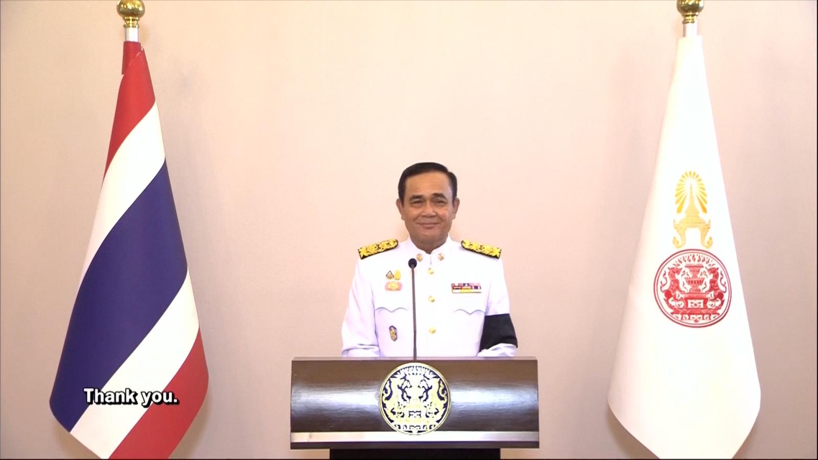 """""""พล.อ.ประยุทธ์"""" ประกาศนำพาประเทศไทยให้สงบร่มเย็น มั่นคง มั่งคั่ง"""