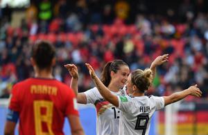 """ผลฟุตบอลโลกหญิง 2019  """"เยอรมนี"""" เฉือน """"สเปน"""" 1-0 ลิ่วรอบ 16 ทีม"""