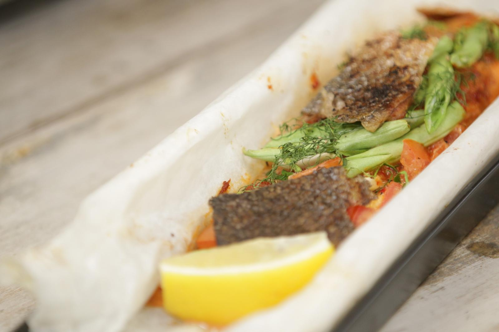 ฟิเลย์ปลาอบพริกแกงถั่วแขก by  ชมพู่ ก่อนบ่าย