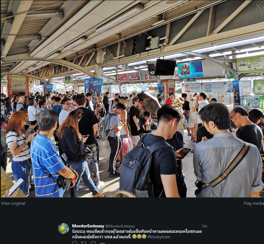 เสียร่วม 5 ชั่วโมง  รถไฟฟ้า BTS ยังแก้ไม่เสร็จ