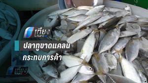 แม่ค้าตลาดมหาชัยเผยปลาทูสดน้อยลง กระทบค้าขาย