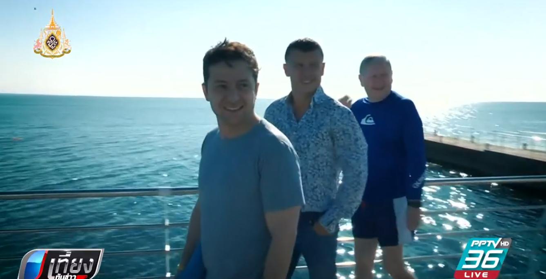 ปธน.ยูเครนคนใหม่โชว์ฟิตลงว่ายน้ำในทะเลดำ